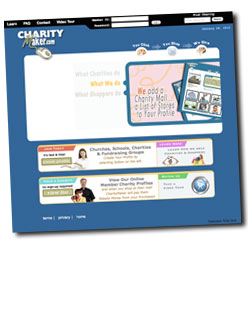 Charity non profit fundraising web site